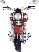 Motorrad Garderobe in Rot Schwarz Metall