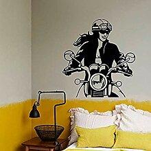 Motorrad Mädchen Wandtattoos Auto Schlafzimmer