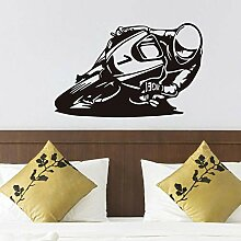 Motorrad Racer Wandkunst Aufkleber Vinyl Klebstoff