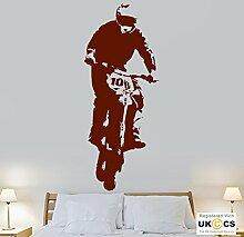 Motorrad Scrambler Cool Helm Track Kinder Wand