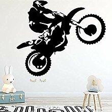 Motorrad Stunt Fahrer Wandaufkleber Wohnzimmer