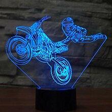 Motorrad Stunts Touch Tischlampe 7 Farben Wechsel