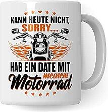 Motorrad Tasse - Geschenk für Motorradfahrer,