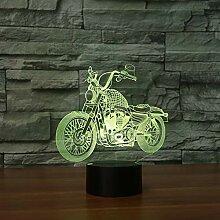 Motorrad Touch Tischlampe 7 Farben Ändern