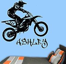 Motorrad Wandaufkleber Motoros Junge Name