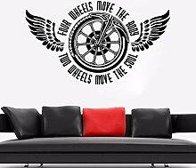 Motorrad Wandtattoo Zweirad Wandtattoo Vinyl