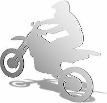 Motorradfahrer Acryl Spiegel, acryl, 400 x 358mm
