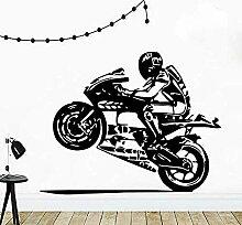 Motorradfahrer Wandaufkleber Motorradhelm Teen Boy