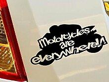 Motorräder sind überall Hobby Funny Car Bumper Window Funny Vinyl Van Laptop Love Herz Decor Home Live Kids Funny Art Wand Aufkleber Aufkleber Motorräder