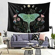 Motten-/Mond-/Blumen-Wandteppich, lustiger
