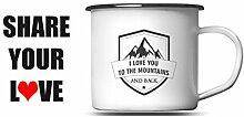 Mountain Camping Tasse Berge Emaille Tasse
