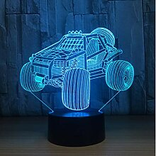 Mountain Car 3D Led Lampe Nachtlicht Acryl