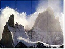 Mountain Foto Badezimmer Fliesen Wandbild M052. 45,7x 61cm mit (12) 6x 6Keramik Fliesen.