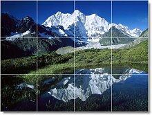 Mountain Scene Badezimmer Fliesen Wand M036. 45,7x 61cm mit (12) 6x 6Keramik Fliesen.