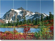 Mountain Scene Badezimmer Fliesen Wand M108. 61x 81,3cm mit (12) 8x 8Keramik Fliesen.