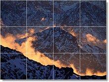 Mountain Scene Badezimmer Fliesen Wandbild M060. 45,7x 61cm mit (12) 6x 6Keramik Fliesen.