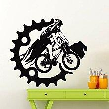 Mountainbike Wandaufkleber Fahrrad Wandaufkleber