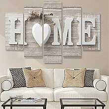 Mourassty 5 Panels Home Holz Home Brief Druckt