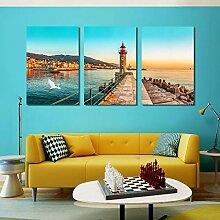 Mouygsd Sonnenuntergang Seelandschaft Poster