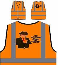 Movember Design Mit Hipster Personalisierte High Visibility Orange Sicherheitsjacke Weste s184vo