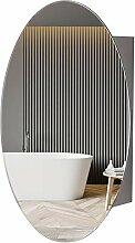 MOVO Medizinschrank mit Spiegel, oval,