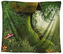 MOYRSX Psychedelische Wald Tapisserie Wohnkultur