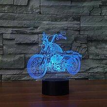 Mozhate Neue Motorrad Touch Tischlampe 7 Farben