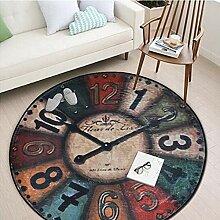 MOZHIYAN Teppich Nordic Runder Teppich Vintage