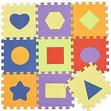 MOZHIYAN Teppich Tier Muster Schaum Puzzle Kinder