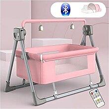 MOZX Elektrische Babyschaukel, Bluetooth Babywippe