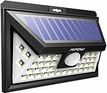 Mpow 40 LED Bewegungssensor Solarlicht, Helle Wandleuchte Solarleuchten, 3 Optionale Beleuchtung Modi, große Sonnenkollektor, 120 ° Erfassungswinkel, Wetterfest, große Außenbeleuchtung für Garten, Auffahrt, Hof, Garage, Weg und Terrasse