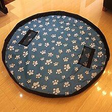 mqforu groß Gartensack Kinder Teppich tragbar Faltbare Kinder Spielzeug Aufbewahrung Tasche mit Kordelzug Blue fee