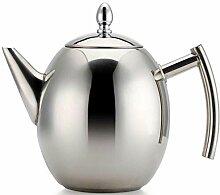 MQJ Teekessel, Edelstahl-Teekanne Kaffeekanne Mit