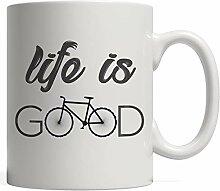 MQJJ Das Leben ist gut Becher Fahrrad - Sehr