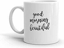 MQJJ Guten Morgen Schöne 11 Unzen Keramik Kaffee