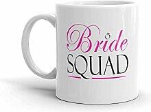 MQJJ Lustiger Humor Neuheit Braut Squad Hochzeit