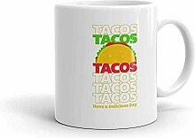 MQJJ Lustiger Humor Neuheit Tacos Tacos Tacos