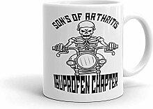 MQJJ Sohn von Arthritis Biker Motorrad IBuprofen