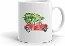 MQJJ Weihnachtsbaum Red Bug Car Design 11 Unzen