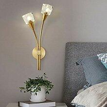 MQW Blühende Pflanzen Artkristall Wandlampe
