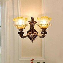 MQW Französisch Kupfer Wandlampe Schlafzimmer