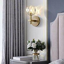 MQW Goldene Nordic Kupfer Wandlampe Kristallkugel