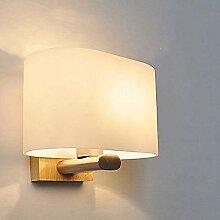 MQW LED Holz Glas Stoff Weiß Auge