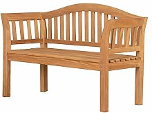 Mr. Deko Teak Bank Wave - Teak - Parkbank -