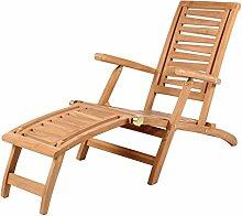 Mr. Deko Teak Deckchair Zickzack Teak - Bear Chair