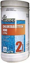 Mr Gardener Mini Chlor Tabletten 1,2 Kg Wasserpflege Pool