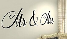 Mr & Mrs–Life Kinder Home Love Zitat Wand Vinyl Aufkleber Aufkleber Art Decor DIY