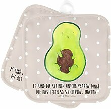 Mr. & Mrs. Panda 2er Set Topflappen Avocado mit