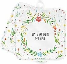 Mr. & Mrs. Panda 2er Set Topflappen Beste Freundin der Welt - Freundin, beste Freundin, Ehefrau, Frau, bae, bff, Freundinnen, Jahrestag, Freundschaft. Liebste, beste, Spruch Geschenk Geschenkidee Danke Dankeschön Anhänger Bedanken Geburtstag Weihnachten Jubiläum Schenken Liebe Danke Liebesgeschenk