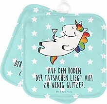 Mr. & Mrs. Panda 2er Set Topflappen Einhorn